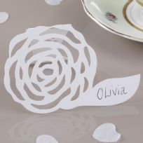 White Free Standing Place Cards (10)